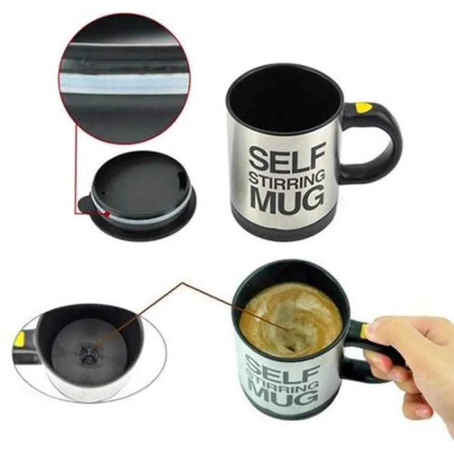 Caneca Eletrica Copo Mixer Mistura Tudo Mini Batedor Misturador de Bebidas a Pilhas para Cafe, Chocolate e Suplementos