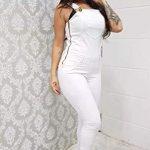 Macacão Branco Moda Blogueira