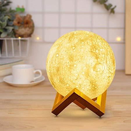 Luminaria 3D Lua Cheia Touch