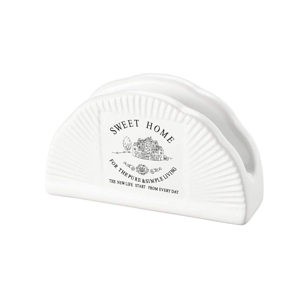 Porta Guardanapos de Cerâmica Sweet Home