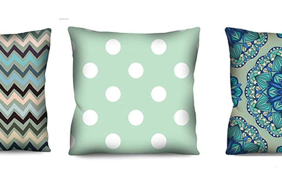 Conjunto de almofadas Azul