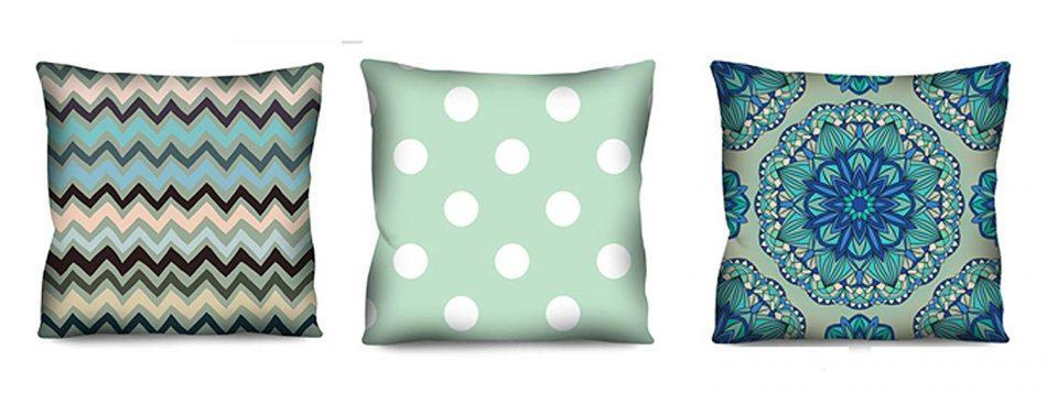Conjunto de almofadas Azul 3 Peças 42×42