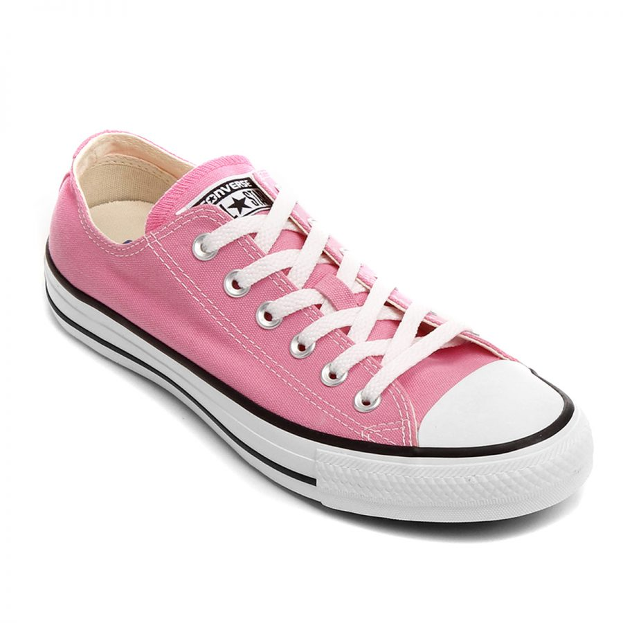 Converse All Star Rosa e Branco