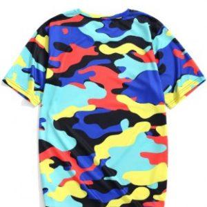 Camiseta camuflagem colorida
