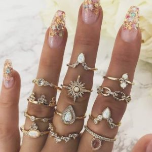 12 anéis – bijuterias