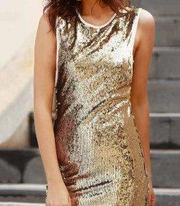 Vestido dourado
