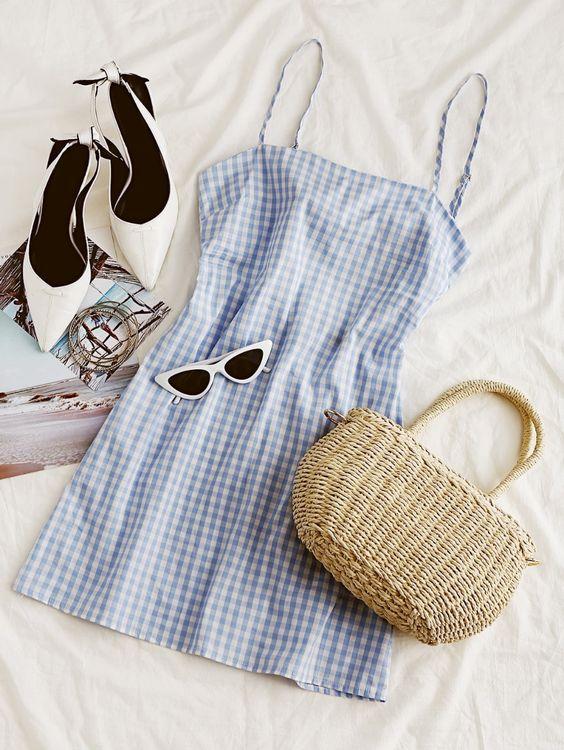 Mini vestido azul