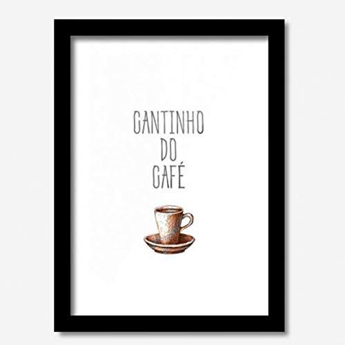 Quadro Decorativo Cantinho Do Café 33cmx24cm