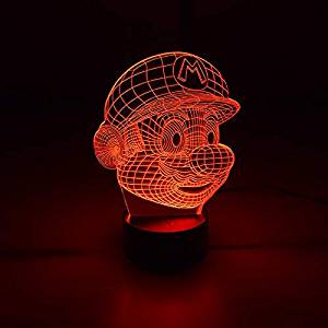 Luminária 3D – Super Mário