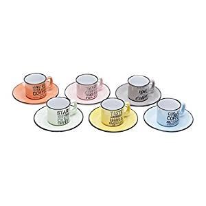 Conjunto 6 Xícaras De Porcelana
