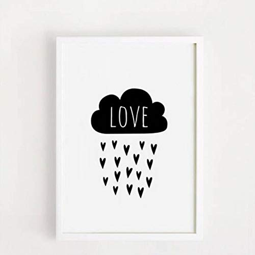 Quadro decoração nuvem LOVE