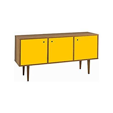Buffet com Portas Vintage Amarelo