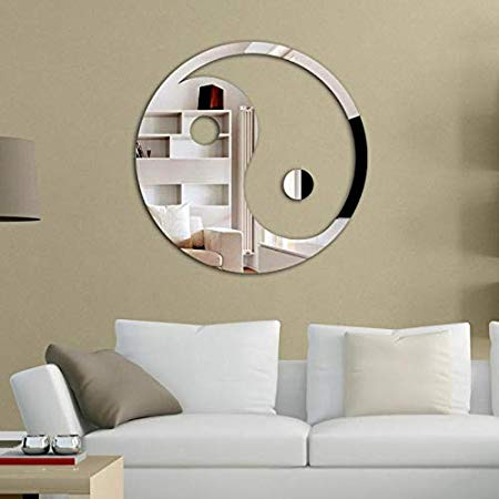 Espelho Decorativo Acrílico Yin Yang