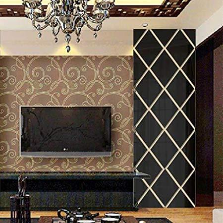 Espelho Decorativo Triangular Espelhado Preto