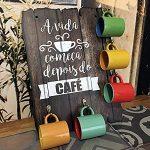 PLACA DECORATIVA EM MDF – PORTA XÍCARAS CAFÉ –