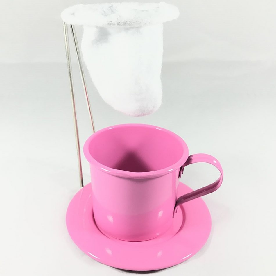 Kit Café Gourmet Caneca 180ml Alumínio Rosa com Coador