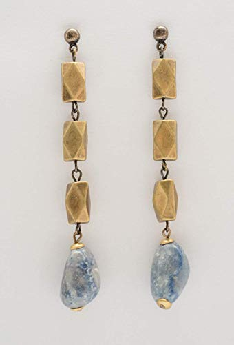 Brinco Losango Pedras Azul
