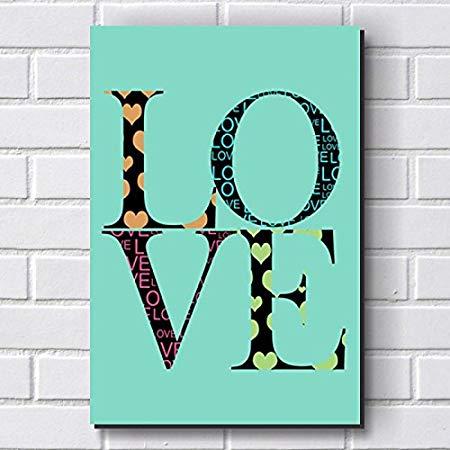 Placa Decorativa em MDF com 20x30cm – LOVE