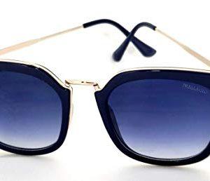 Óculos De Sol Feminino Gatinho Quadrado Retrô Azul 1103a