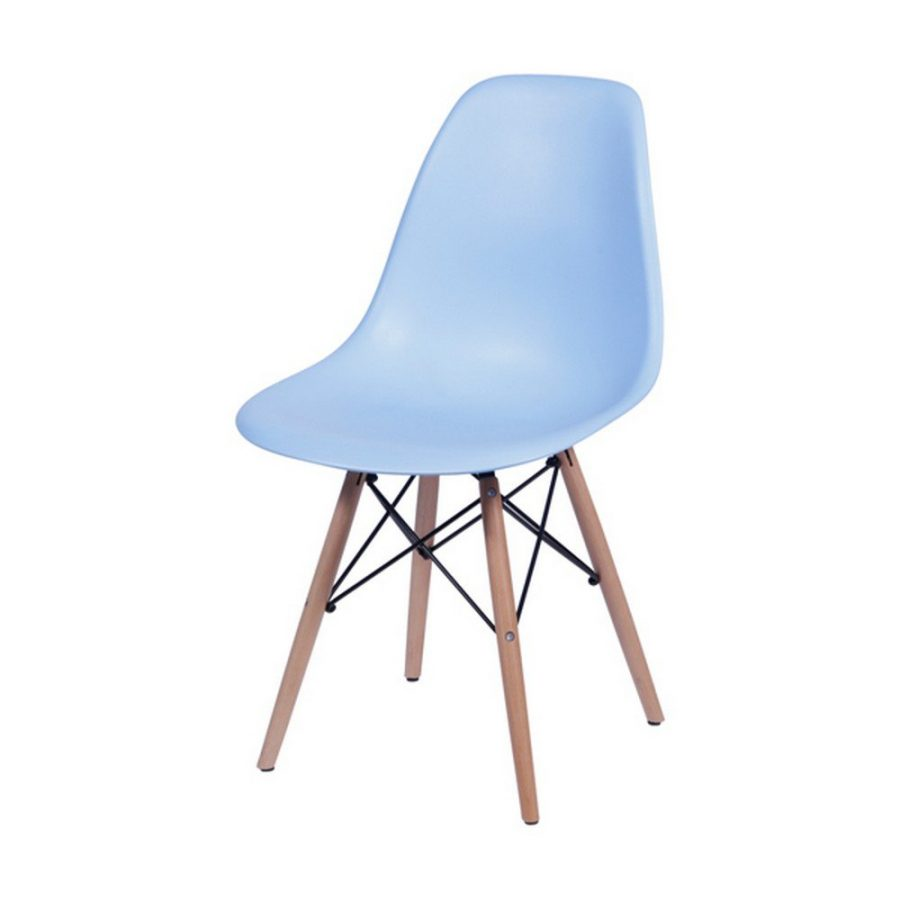 Cadeira Eames Dkr Cozinha Jantar 46X80X42Cm Azul Claro