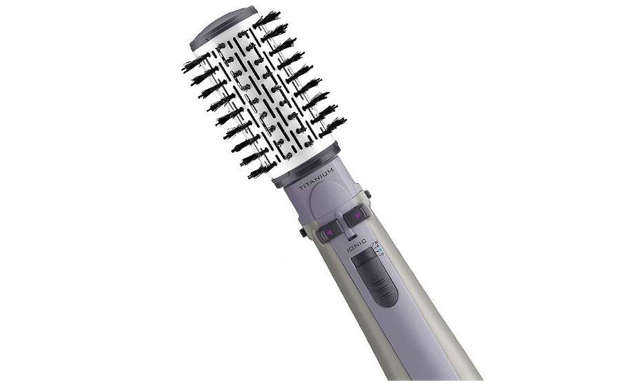 Escova rotativa Air Brush Titanium Conair 110V
