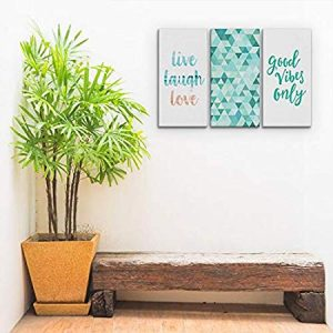 Conjunto Kit 3 Placas Quadros Decorativos Azul Frases