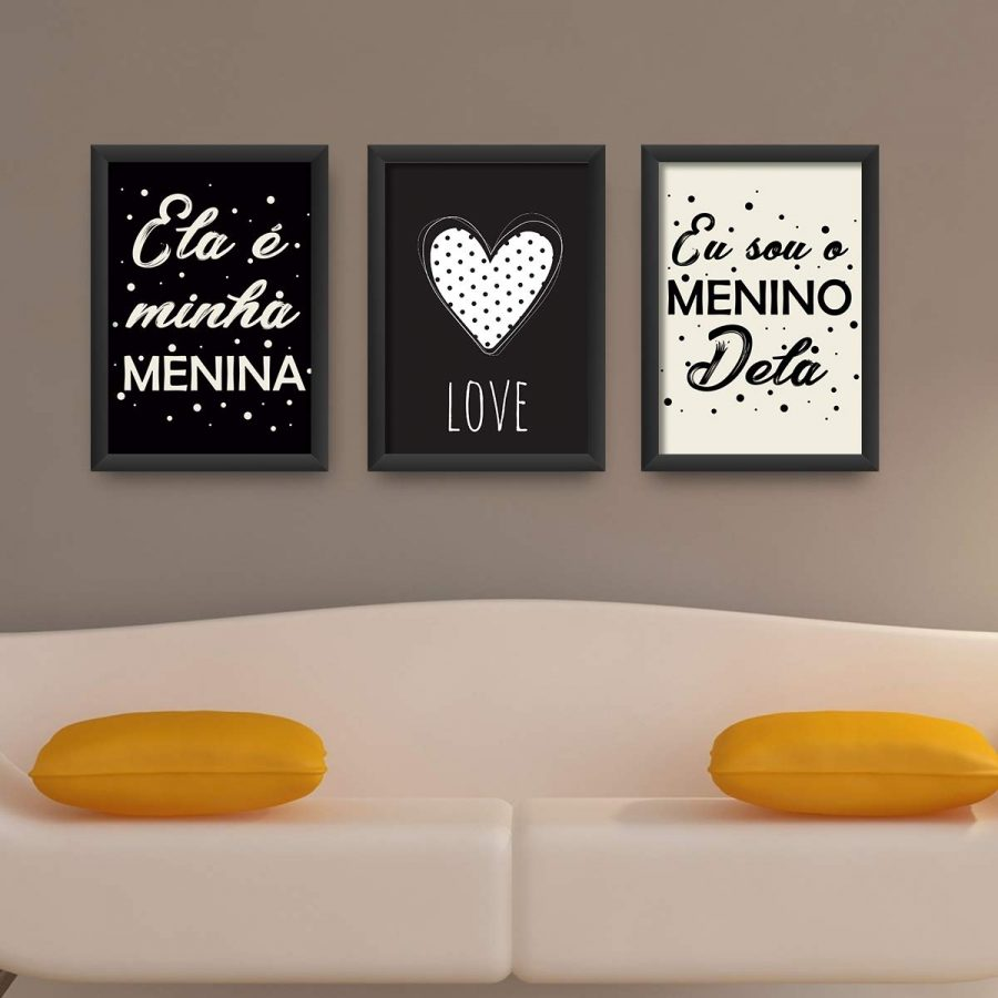 Kit 3 Quadros decorativos