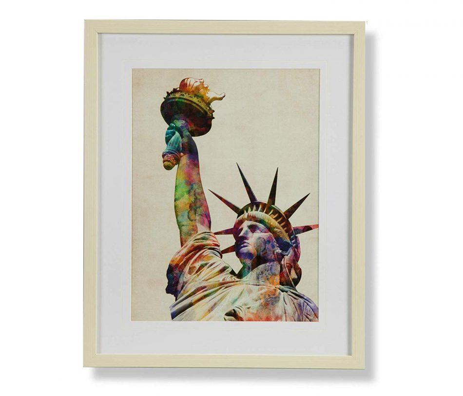 Quadro Gravura Estatua Liberdade