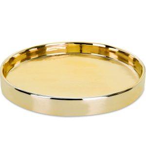 Bandeja em Cerâmica, Dourado