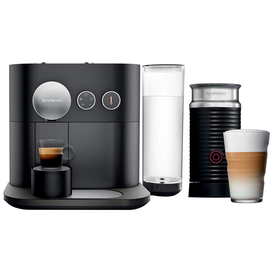 Nespresso Combo Expert, Máquina de Café com Aeroccino, 110V, Preto