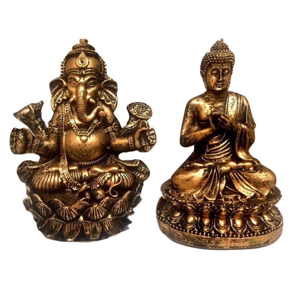 Kit Estátua de Buda + Ganesha