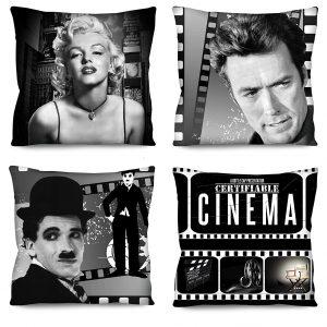Capas de Almofada Para Sofá Cinema kit 83 4 Peças