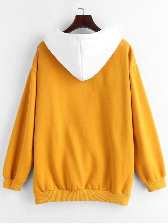 Blusa amarela e branca
