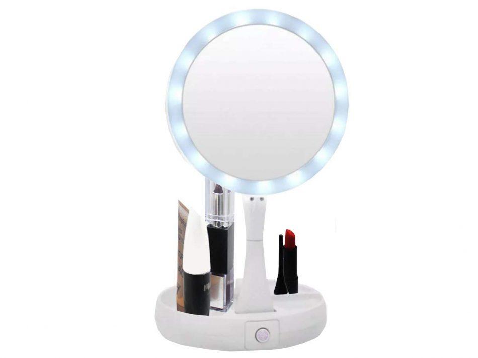 Espelho Maquiagem Led Articulavel