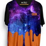 Camiseta Dep Galáxia Laranja/Roxa