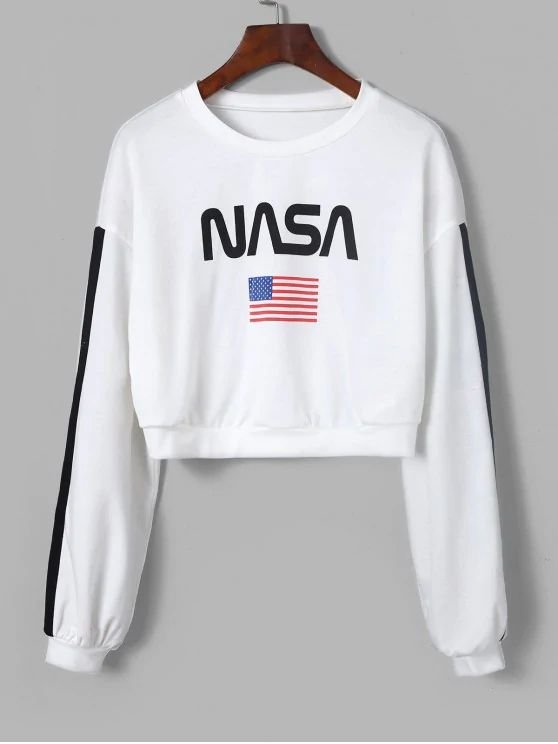 blusa cropped estampa NASA