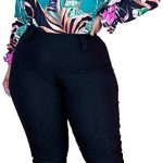 Conjunto Plus Size Blusa Estampada Calça Roupas Femininas GG