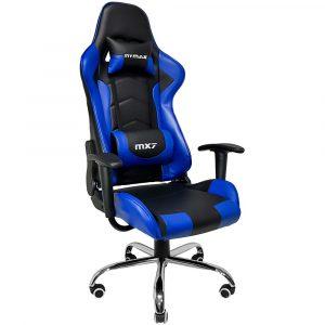 Cadeira Gamer MX7 Giratória Preto e Azul