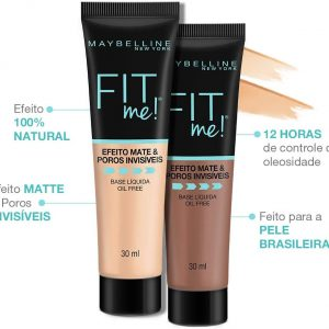 Base Líquida Maybelline Fit Me! N80, 30mlc