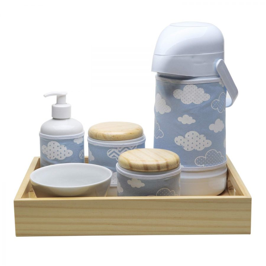 Kit Higiene Moderno Nuvem,