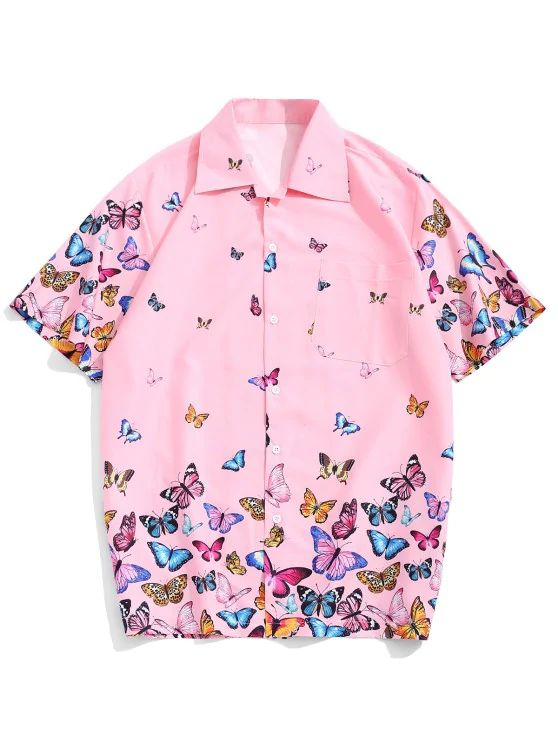 Camisa estampa borboleta