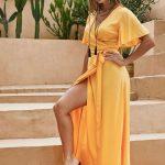 Vestido lindo- amarelo