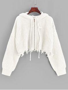 Blusa cropped tricot branca