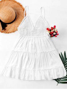 vestido chochet branco