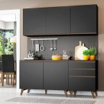 Cozinha Compacta Madesa Reims com Balcão – 5 Portas 3 Gavetas