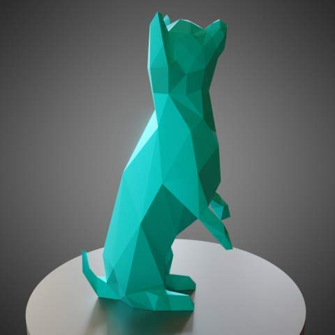 Chihuahua Estilo Low Poly
