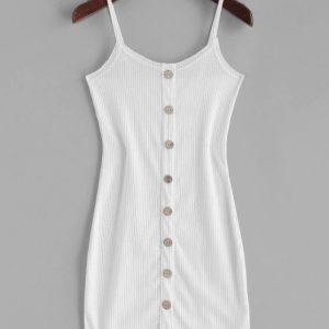 Vestido branco de alcinha