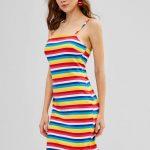 Vestido listrado colorido