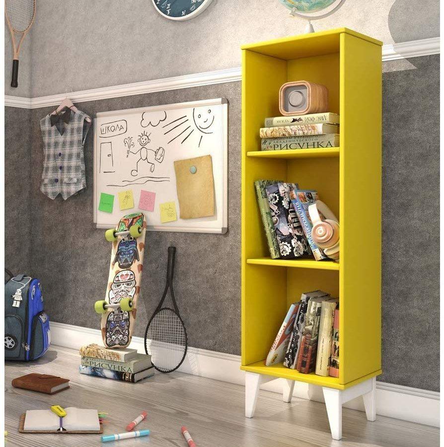 Estante Livreiro Twister Amarelo