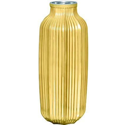 Vaso em Vidro Dourado
